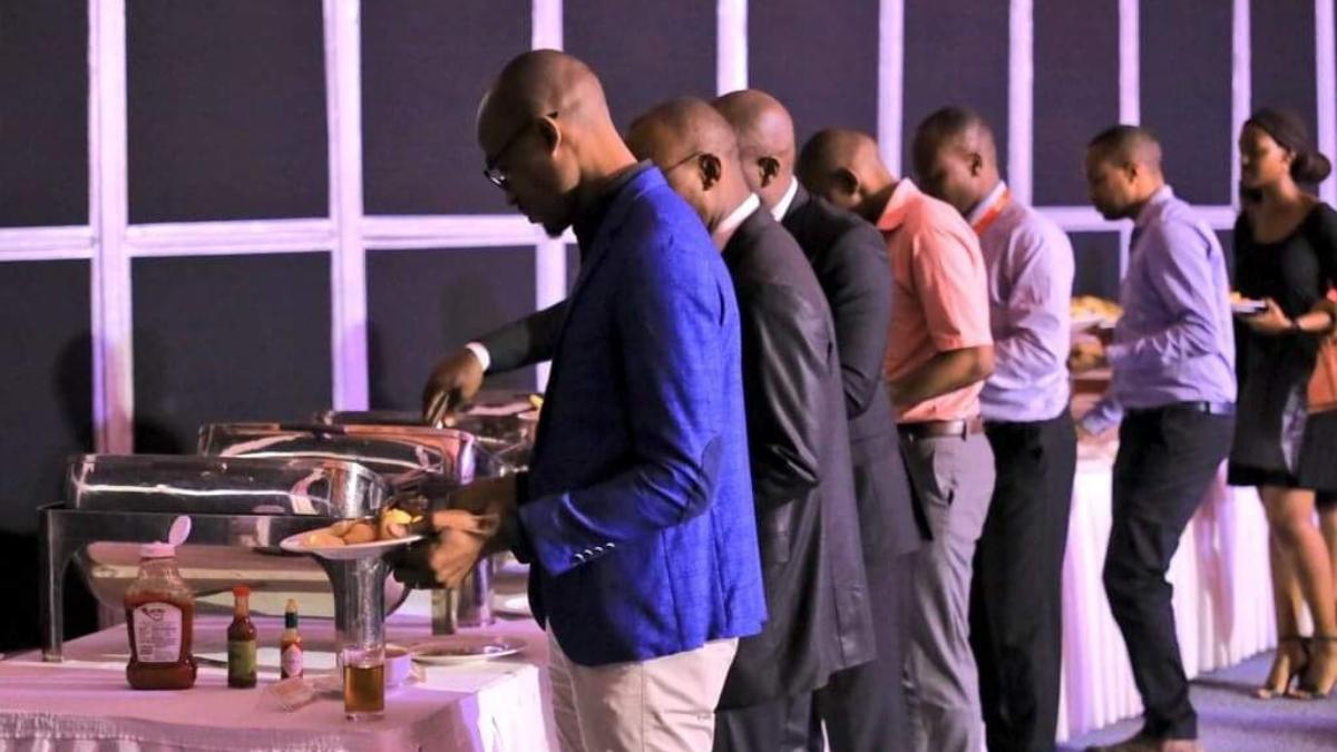 Guests serving breakfast